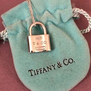 Tiffany & Co 1837 Lock Pendant Necklace